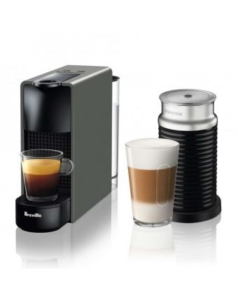 Machine à café à capsules Essenza Mini et mousseur de lait Aeroccino - Gris