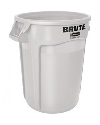 Poubelle Brute 75,7 L - Blanc
