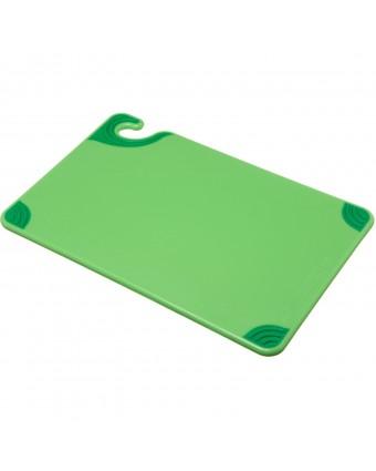 """Planche à découper en copolymère Safe-T-Grip 18"""" x 12"""" - Vert"""