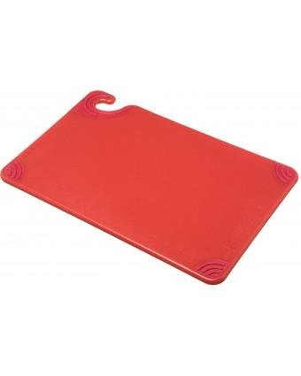 """Planche à découper en copolymère Saf-T-Grip 18"""" x 12"""" - Rouge"""