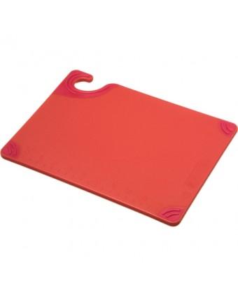 """Planche à découper en copolymère Saf-T-Grip 12"""" x 9"""" - Rouge"""