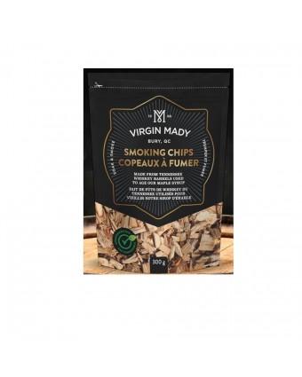 Copeaux de bois de barils de whisky utilisés pour faire vieillir du sirop d'érable - 300 g