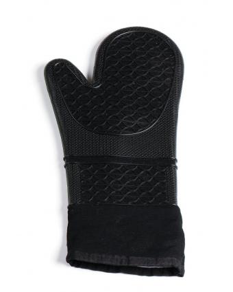 Mitaine de four en silicone et en coton 15'' – Noir