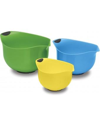 Ensemble de trois bols à mélanger en plastique