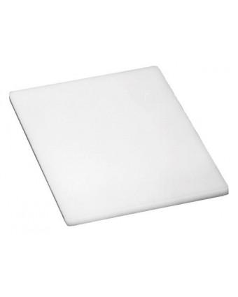 """Planche à découper en polyéthylène 20"""" x 15"""" - Blanc"""