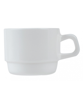 Mug empilable en verre 8 oz - Opal Restaurant White