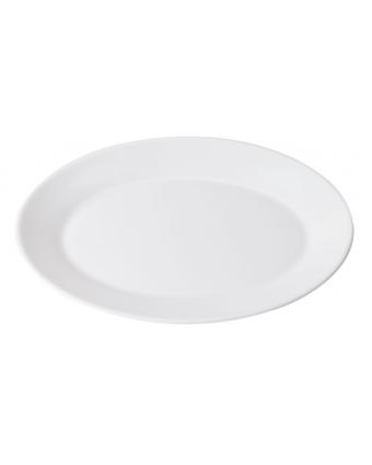 """Assiette de service ovale 11,75"""" - Opal Restaurant White"""