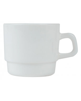 Mug empilable en verre 7,5 oz - Opal Restaurant White