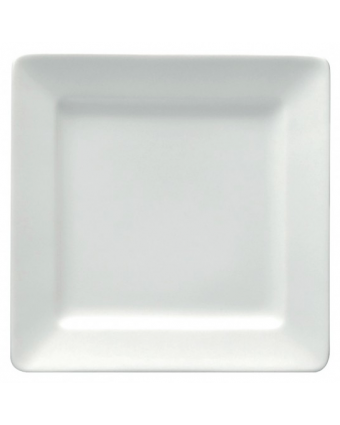 "Assiette carrée 7,25"" - Bright White Ware"