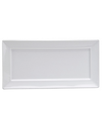 Assiette de service rectangulaire 10,6'' x 5,25'' - Bright White Ware