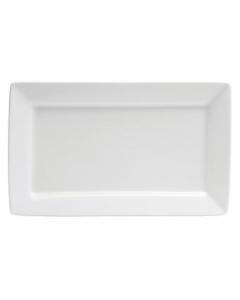 Assiette de service rectangulaire 11,4'' x 7'' - Bright White Ware