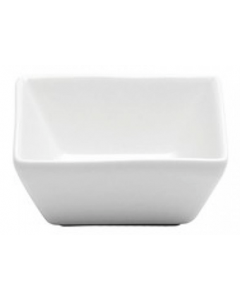 Récipient à condiment carré en porcelaine 4 oz - Bright White Ware