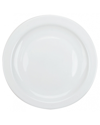 "Assiette ronde 9,25"" - Opal Restaurant White"