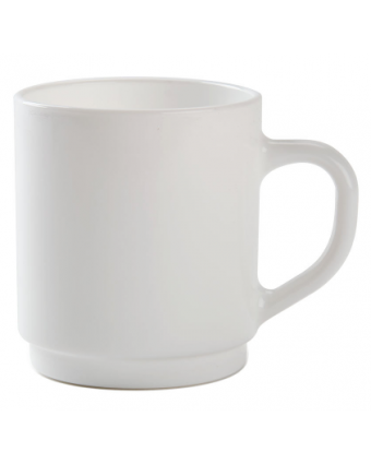 Mug empilable en verre 10 oz - Opal Restaurant White
