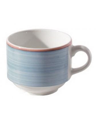 Tasse en porcelaine vitrifiée 7,5 oz - Cosmo Bleu