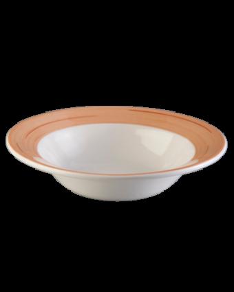 """Assiette à soupe ronde 7"""" - Namib rose"""