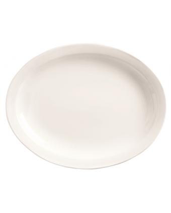 """Assiette de service ovale 13"""" x 10"""" - Porcelana"""