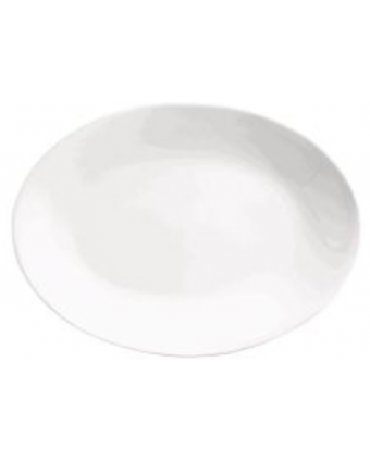 """Assiette de service ovale 11,75"""" x 8"""" - Porcelana"""