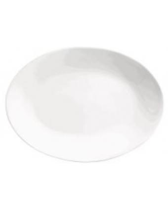 """Assiette de service ovale 9,75"""" x 7,5"""" - Porcelana"""