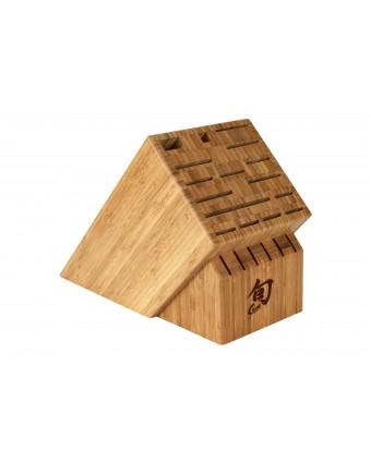 Bloc à couteaux en bambou doté de 22 fentes