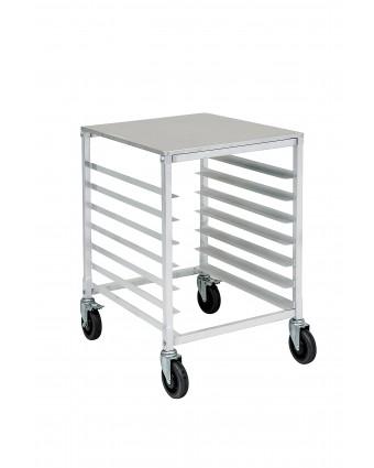 Chariot à angles en aluminium - 10 tablettes