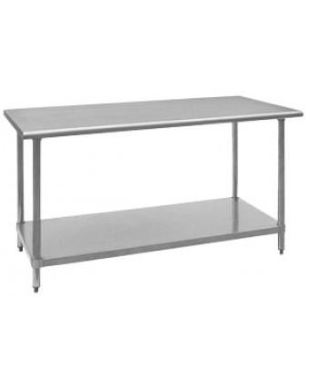 """Table de travail en acier inoxydable - 30"""" x 72"""""""