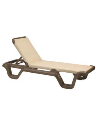 Chaise longue Marina - Bronze et kaki