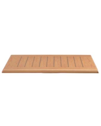 """Dessus de table rectangulaire 24"""" x 32"""" - Teck"""