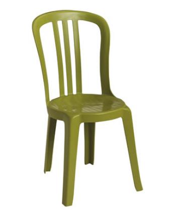 Chaise en résine Miami Bistro - Vert fougère