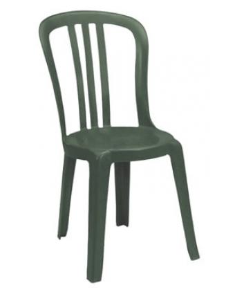 Chaise en résine Miami Bistro - Vert amazone