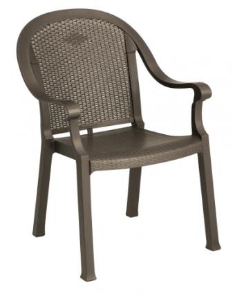 Chaise en résine avec appuis-bras Sumatra - Bronze