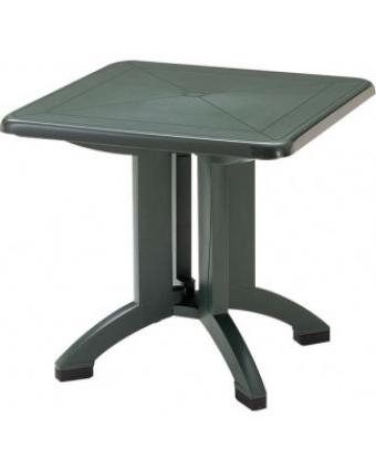 """Table d'extérieur carrée Vega 32"""" - Vert amazone"""