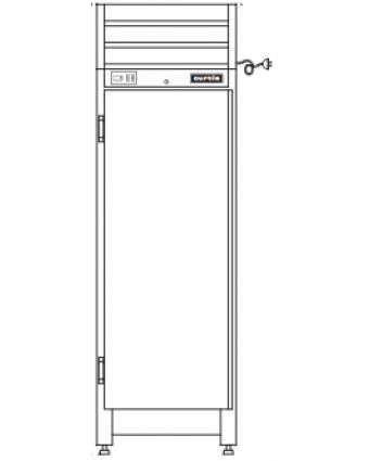 Réfrigérateur Curtis à Porte Pleine - Demo