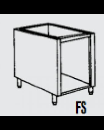 """Base à équipement en acier galvanisé sans porte 24"""""""