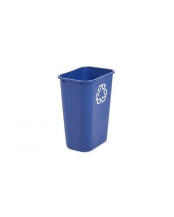 Poubelle rectangulaire à recyclage 38,8 L - Bleu