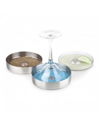 Récipients en acier inoxydable à givrage de verre avec couvercle