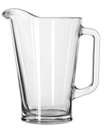 Pichet en verre 35,5 oz - Transparent