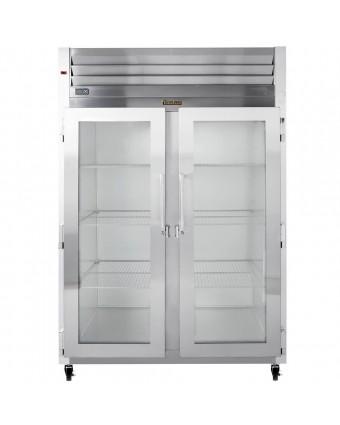 Réfrigérateur deux portes vitrées 46 pi³ - Acier inoxydable