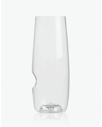 Ensemble de quatre flûtes à champagne en plastique 8 oz