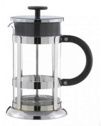 Cafetière à piston en verre 8 tasses - Chrome