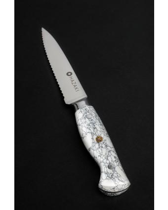 Couteau dentelé 7'' - Blanc