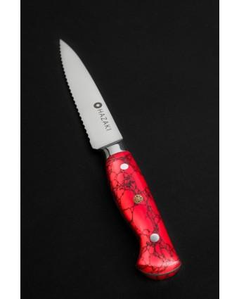 Couteau dentelé 7'' - Rouge