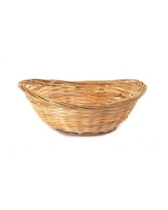 "Panier en bambou ovale 7"" x 5"" - Naturel"