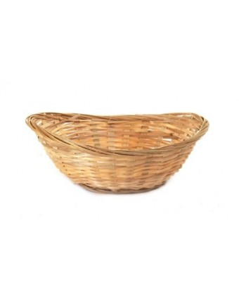 "Panier en bambou ovale 9"" x 6,5"" - Naturel"