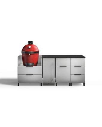 Configuration à quatre modules pour BBQ au charbon - Nature