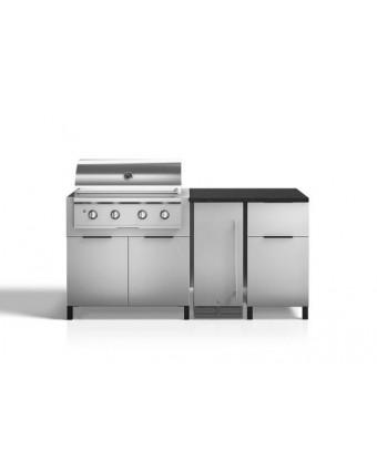 Configuration à trois modules pour BBQ au gaz et réfrigérateur - Nature