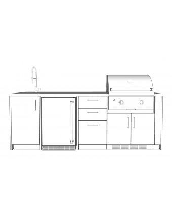 Configuration L'apéro avec comptoir en acier inoxydable pour BBQ au gaz - Pure
