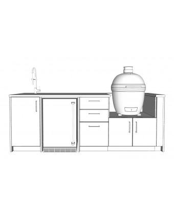 Configuration L'apéro avec comptoir en granit pour BBQ au charbon - Pure