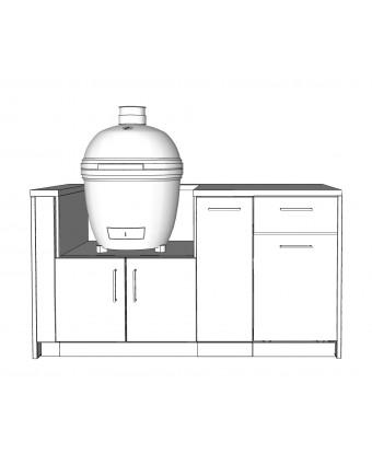 Configuration Le chef avec comptoir en acier inoxydable pour BBQ au charbon - Pure
