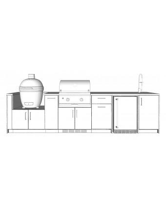 Configuration Le Pro avec comptoir en acier inoxydable - Pure